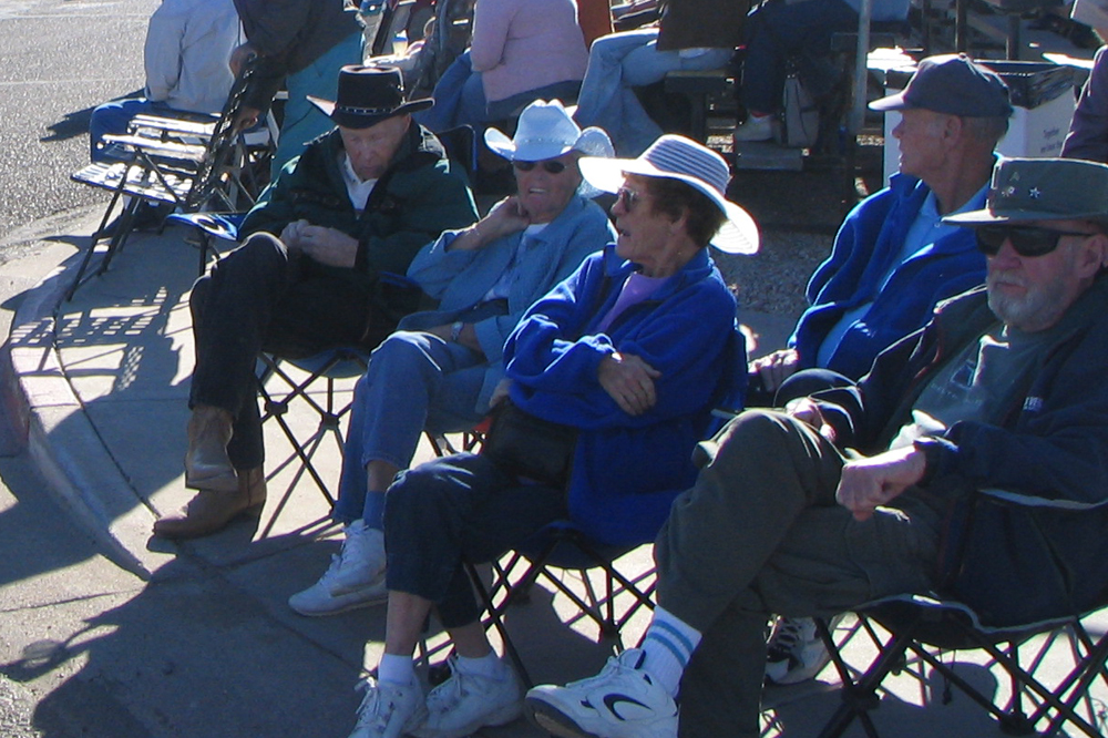 eniors watching a parade